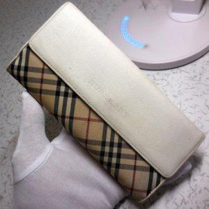 Burberry Nova Check Pane Plaid Browns Red Ivory